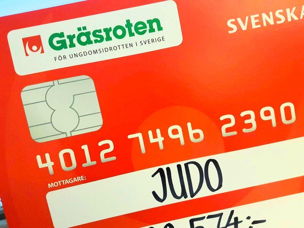 Årets gräsrotsutbetalning till Svenska judoföreningar
