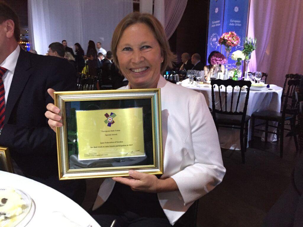 Pressmeddelande: Europeiskt jämställdhetspris tillSvenska Judoförbundet